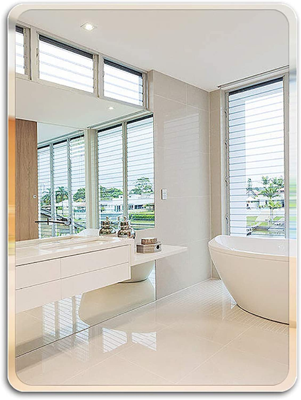 Rectangular Mirro,Rounded Rectangular Mirror,Bathroom Hangs Horizontal & greenical Frameless,Wall- Mounted Mirror,Rectangle Wall Mirror