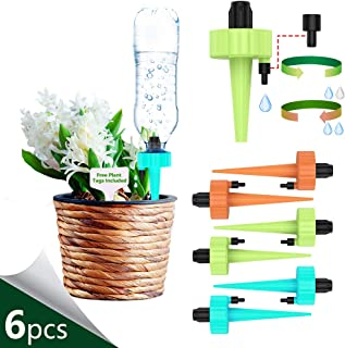 THEKBS Self Watering Spikes, Plant Watering Devices, Automatic Plant Waterer with Slow Release Control Valve Switch for Plants or Vegetables (6)