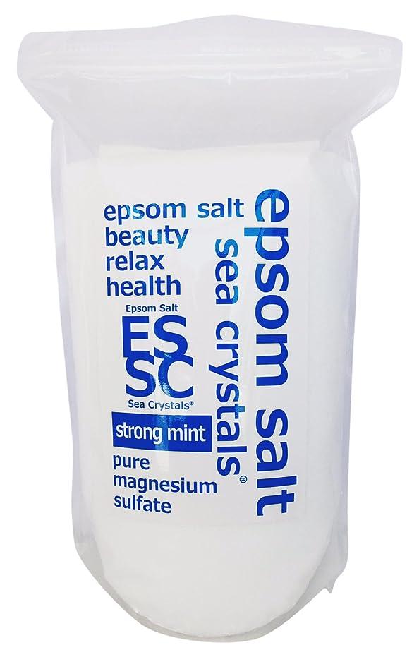 荷物ハプニングウイルスシークリスタルス 国産 エプソムソルト(硫酸マグネシウム) ストロングミント2.2kg 浴用化粧品