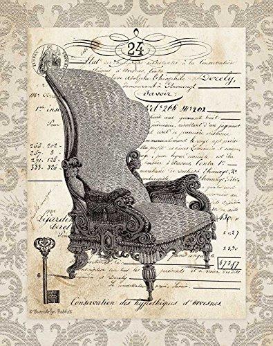 IMPRESSION-sur-TOILE-ENROULÉE-Chaise-française-je-Babbitt-Gwendolyn-Vintage-Affiche-imprimer-sur-toile-enroulée-100%coton-pour-décoration-murale-Dimensions-44_X_35_cm