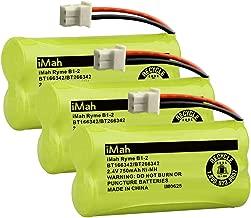iMah Ryme B1-2 BT166342 BT266342 BT183342 BT283342 Cordless Phone Batteries Compatible with Vtech CS6114 CS6429 CS6719-2 AT&T EL5210 EL51203 Handset Telephone, Pack of 3
