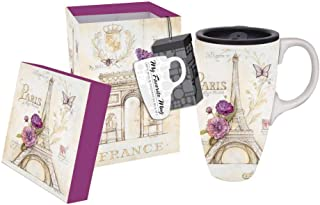 French Lilacs Ceramic Travel Mug 17oz