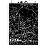 Mr. & Mrs. Panda Poster DIN A5 Stadt Recklinghausen Stadt