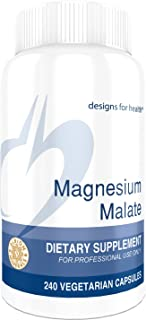 Designs for Health Magnesium Malate - 360mg Magnesium for Energy + Muscle Support (240 Capsules)
