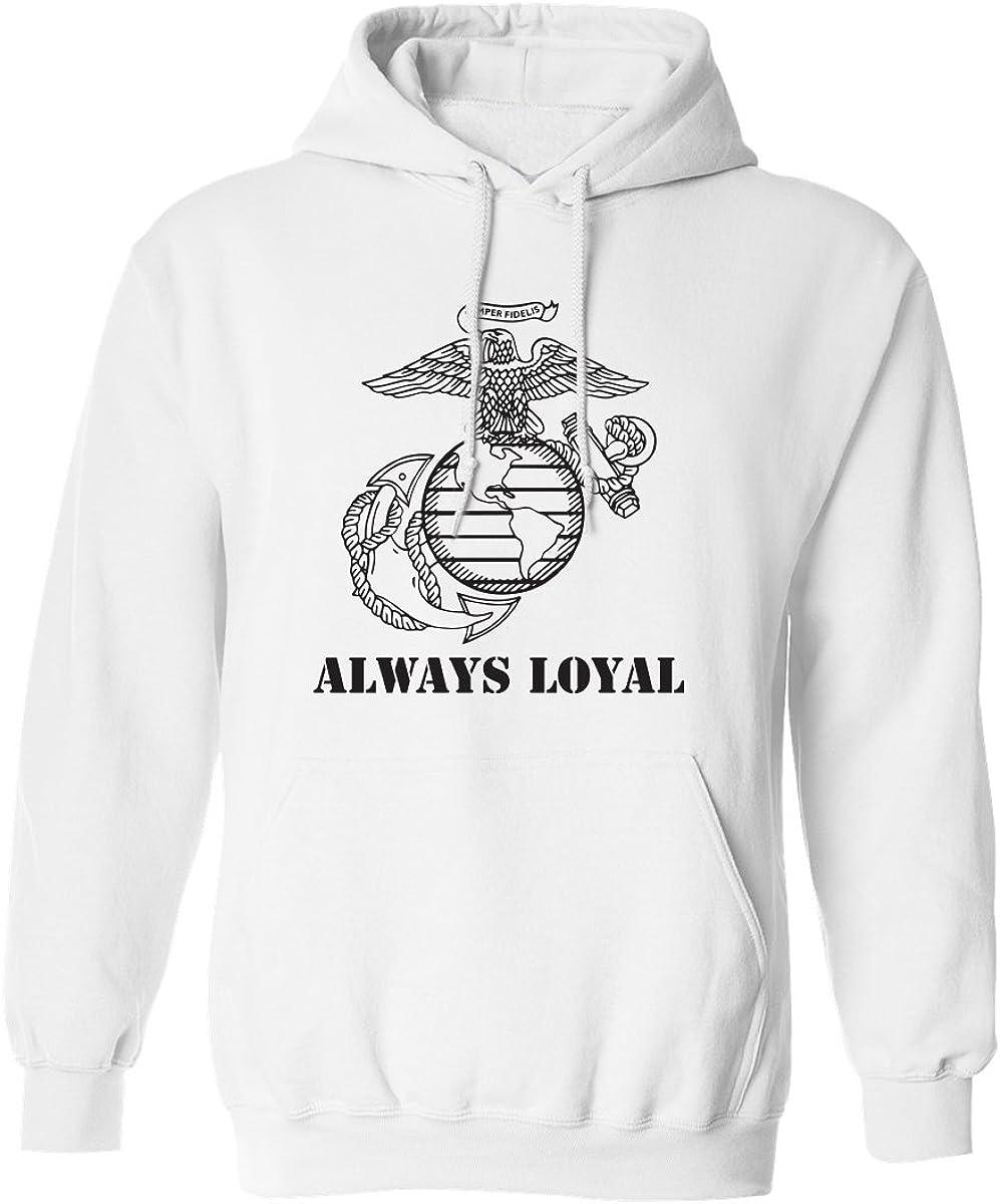 ALWAYS LOYAL Semper Fi Adult Hooded Sweatshirt