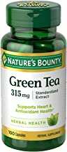Nature's Bounty Green Tea Pills and Herbal Health Supplement, Supports Heart and Antioxidant Health, 315mg, 100 Capsules
