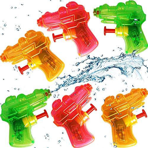 German Trendseller® - 3 x Super - Mini Wasserpistolen - Transparent ┃ NEU ┃ Mitgebsel ┃ Kindergeburtstag ┃ Kinder Pool Party ┃ 3 Stück