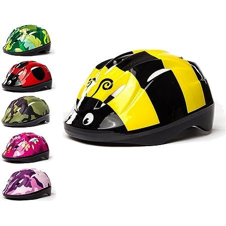 3StyleScooters® SafetyMAX® - Casco para Niños - 6 Diseños Increíbles Bicicleta y Patinete - Cinta Ajustable - Opciones para Niños de 4 a 11 Años de ...