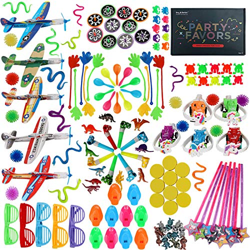 Amy&Benton 150PCS Kids Birthday Party Favors Prizes Box Toy Assortment for Classroom Kids Carnival Prizes Toys Goodie Bag Fillers Pinata Fillers for Kids Birthday Party