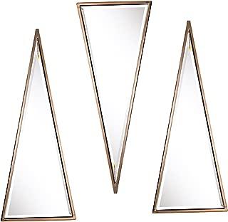 Holly & Martin Wykes 3pc Geometric Wall Mirror Set - Champagne – 12