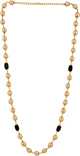 Indian 14 K Gold Plated Faux Black Pearl Chain Necklace Beads Strand Fashion Costume Jewelry