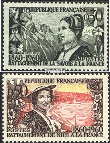 Prophila Collection Frankreich 1294-1295 (kompl.Ausg.) 1960 Trachtenmädchen (Briefmarken für Sammler) Uniformen / Trachten