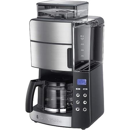Russell Hobbs Machine à Café, Cafetière Filtre Semi Automatique 1000W, Moulin à Grains Intégré, Programmable - 25610-56 Grind and Brew
