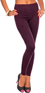Dorimis Women Tight Pants High Waist Yoga Legging Stretch Full Length Activewear Wine Red US 10-12/ASIAN L