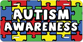 Graphics and More Autism Awareness Background Puzzle Novelty Metal Vanity License Tag Plate
