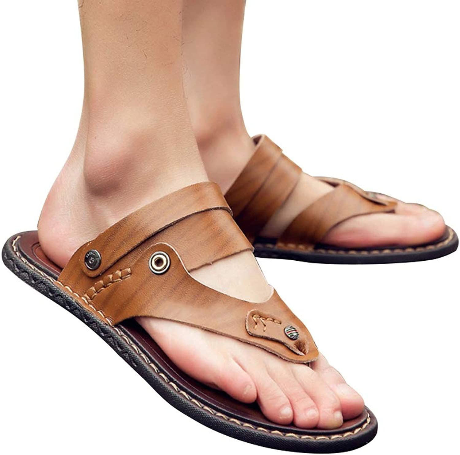 AUGAUST Men's Flip-flops Non-slip Wearable Soft and Comfortable Can Be Worn As Sandals (color   C, Size   38)