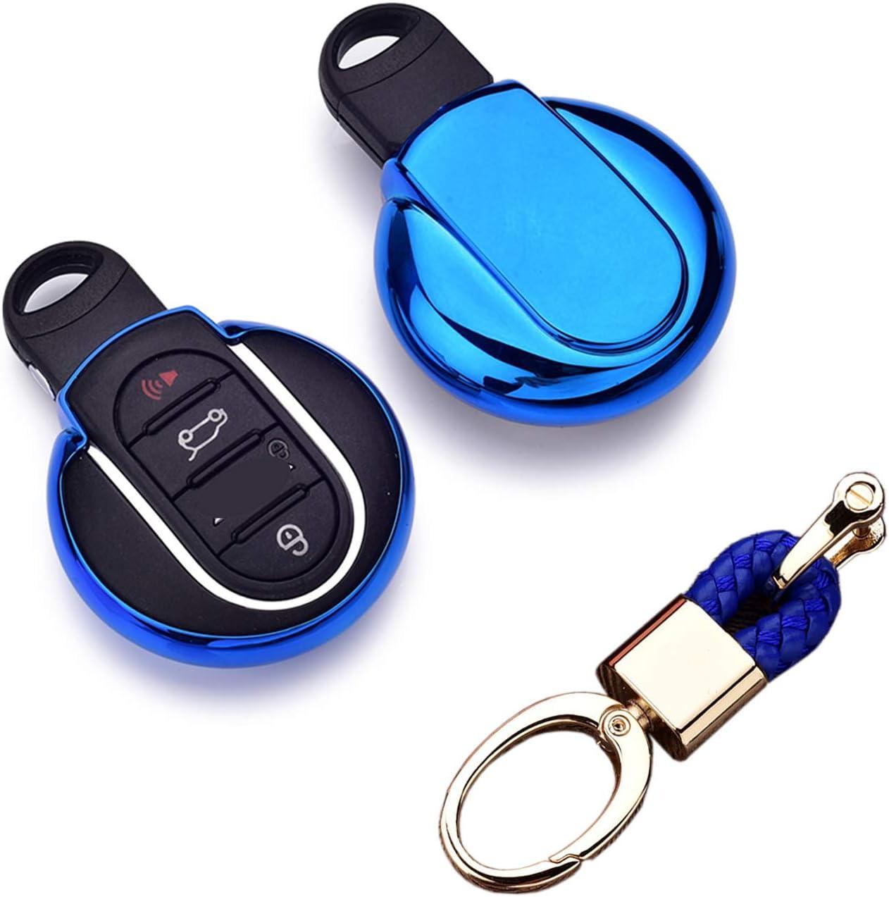 Royalfox(TM) Luxury 3 4 Buttons Soft TPU Smart Remote Key Fob ca