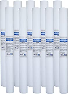 Whole House Water Filter Instead of Sediment Filter, 10 Packs of PP 5 Micron Water Filter, Used In 40-inch Sink Water Filt...