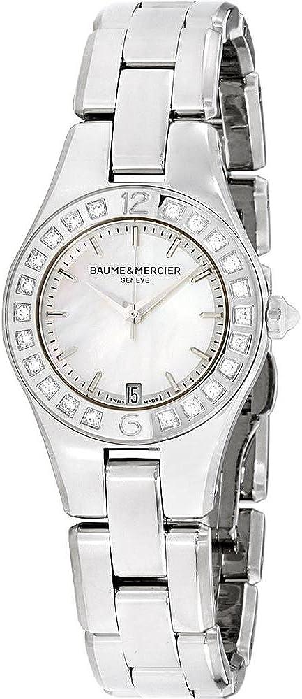 Baume & mercier linea argento orologio da donna MOA10078