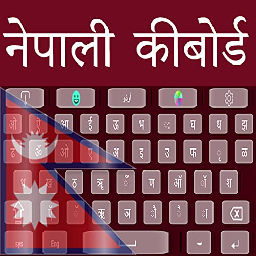 Nepalesische und englische Tastatur Easy Typing