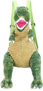 SODIAL New Kids Backpacks Cute Cartoon Dinosaur Printed School Bags for Kindergarten Girls Boys Children Anti-Lost Nursery Bag Green