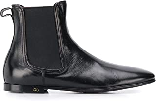 Luxury Fashion | Dolce E Gabbana Men A60269AX19980999 Black Leather Ankle Boots | Spring-summer 20
