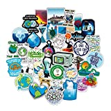 Earth Stickers Global Warming Stickers Climate Change Stickers Pack 50 Pcs Environmental Protection Decals for...