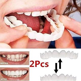 2 Piezas (Dentadura Superior Para Los Dientes) Reutilizable