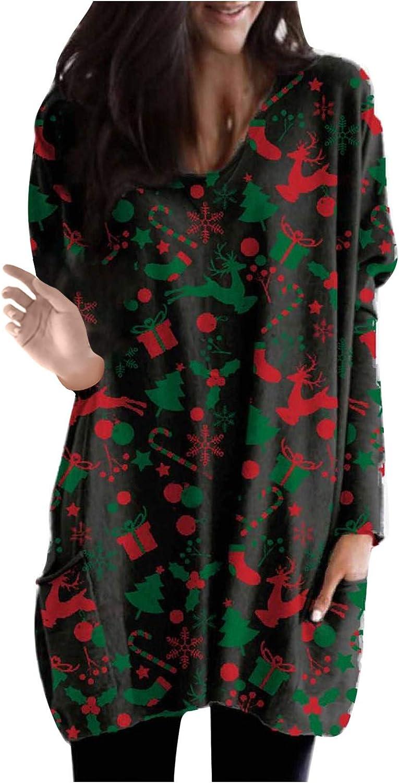 New Gifts product type AOKASII Christmas Sweatshirts for Long Sl Casual Women