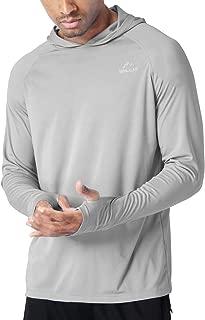 Men's UPF 50+ Sun Protection Hoodie T-Shirt Long Sleeve SPF Shirt Runing Hiking Shirt