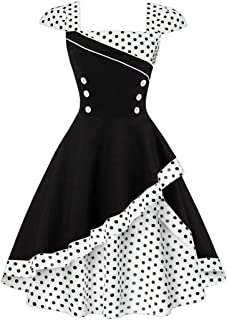 Women's Audrey Hepburn Vintage Style Rockabilly Swing Dress