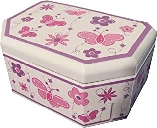 Mele & Co. Kelsey Girl39;s Glitter-Fly Musical Jewelry Box