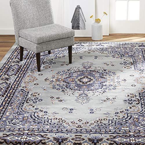 Home Dynamix Premium Sakarya Traditional Area Rug, Oriental Silver/Blue 7