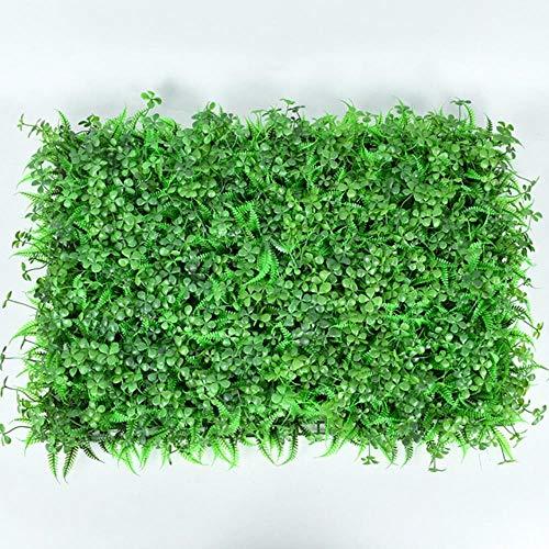 Planta de Pared Verde Artificial Turquesa Boj Hedge Garden Backyard Home Fondo Decoración Simulación Milan Grass Outdoor Flower Wall, Green Lawn 8