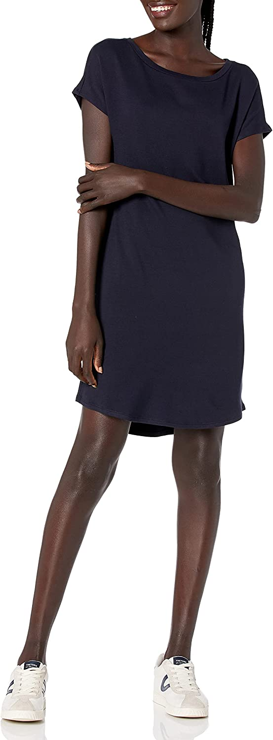 Amazon Brand - Daily Ritual Women's Supersoft Terry Dolman-Sleeve Boat-Neck Dress