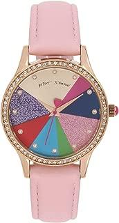 Betsey Johnson Women's Pie Chart Dial & Strap Watch