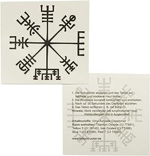 5 x Vikinger Kompass Tattoo - Vegvísir - Keltischer Kompass