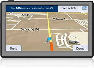 GPS Navigation for Car 7 Inch Vehicle GPS Navigation Portable Truck Navigator Touch Screen Multimedia Pre-Installed North America Lifetime Maps Free Update (8G/256M)