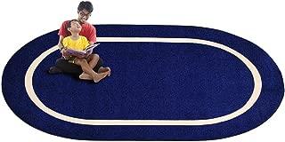 Kid Carpet FE732-35A Montessori Oval Nylon Area Rug, 6' x 8'6