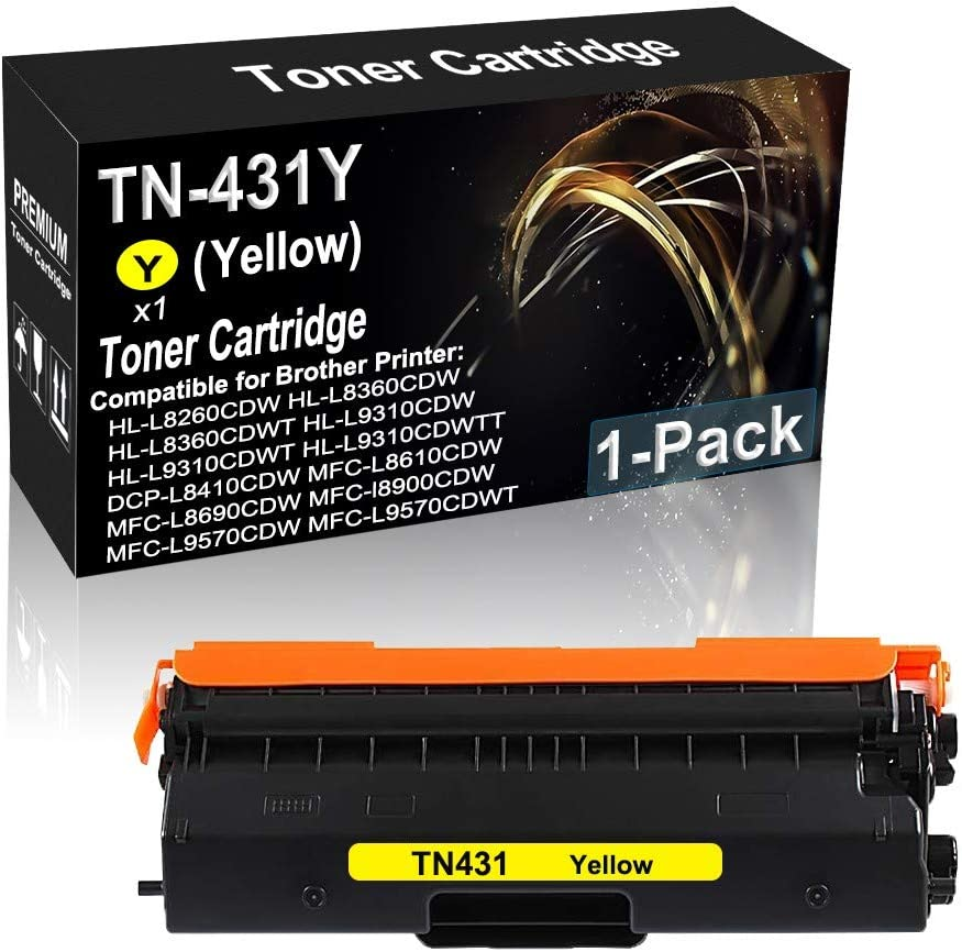 1-Pack (Yellow) Compatible Imaging Toner Cartridge High Yield Replacement for Brother MFC-L8690CDW MFC-l8900CDW Printer