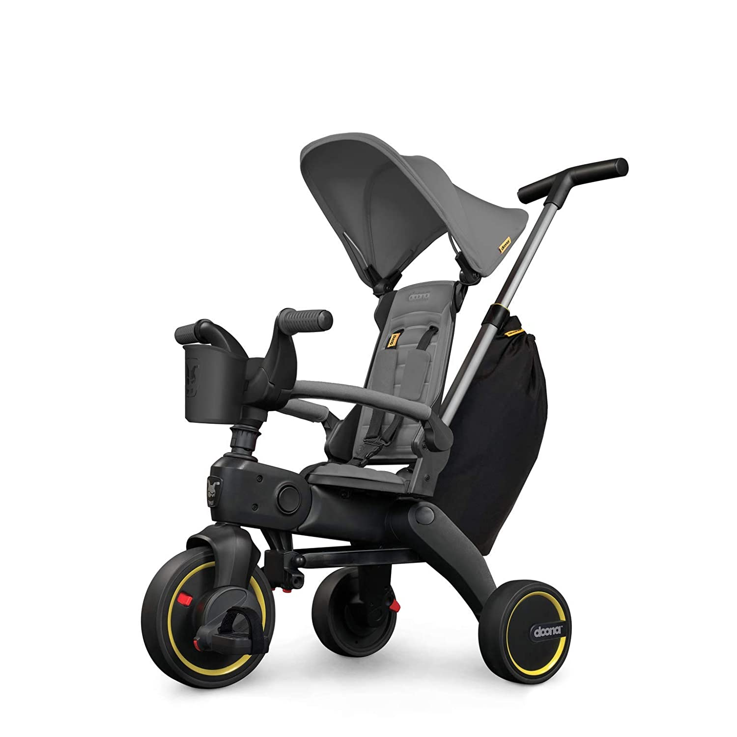 Doona Liki Trike S3 - Premium Foldable Push Trike and Kid's Tricycle for Ages 10 Months to 3 Years, Grey Hound