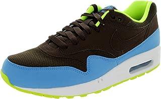 NIKE Air Max 1 Essential Mens Running Shoes 537383-201 Baroque Brown University Blue-Volt-White 7.5 M US