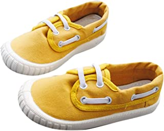 One to Eight Boys and Girls Canvas Sneakers in Yellow Colour