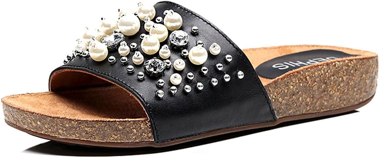 Sandalen Amazing Damen Kork Clip Toe Rubber Scrub Mode Hausschuhe Strand (Gre   EU36 UK3.5 CN35)