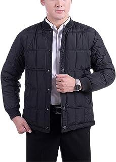 Targogo Piumino Uomo Giacche Invernali Corte Piumino Trapuntato Lungo Maniche Abbigliamento Lunghe Vintage Piumino Caldo T...