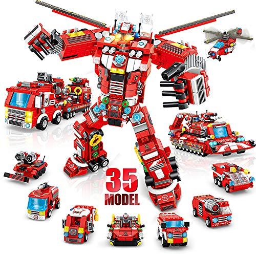 LUKAT Roboter Bausteine Spielzeug für Jungen 6 7 8 9 10 Jahre 836 Teile...