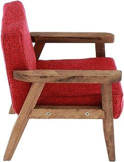 DYNWAVE ドールハウスキット ミニチュア 家具 ソファ 椅子 ミニチェア 1/6スケール 子供 おもちゃ 3色 - 赤