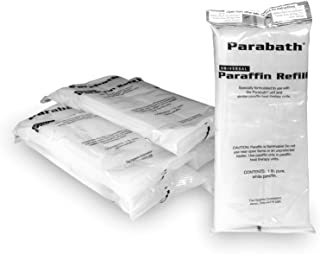 Paraffin Wax Refill by Parabath, Bulk 6 lbs of Unscented Paraffin in 1 Pound Bags for Hands & Feet, Use in TheraBand Parabath Paraffin Wax Heating Bath, Low Melt Wax for Heat Therapy Pain Relief