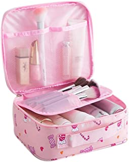 Gijoki Portable Cosmetic Makeup Bag Multifunction Travel Large Capacity Storage Bag Cosmetic Bags