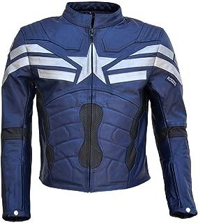 coolhides Men's Captain Winter Soldier Real Leather America Jacket